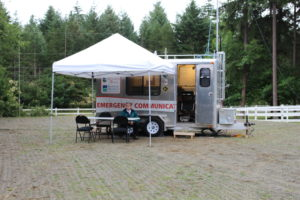 THe Club used the OECT emergency communications trailer and the opportunity to exercise skills during Field Day.